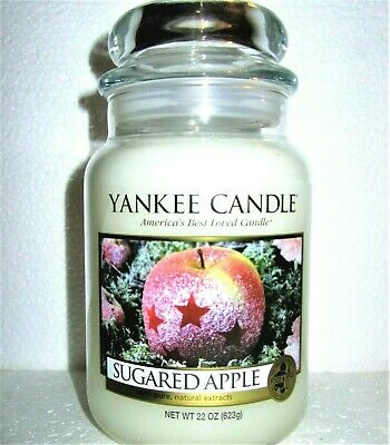 "Yankee Candle Retired ""sugared Apple""~ Large 22 Oz ~white Label~ Rare~vhtf~ New"