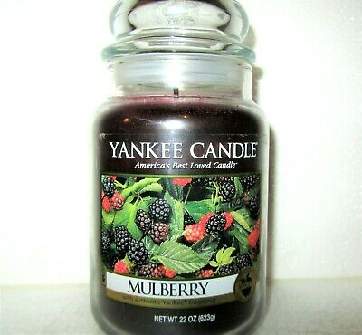 "Yankee Candle Retired ""mulberry""~fruit~large 22 Oz ~white Label~rare ~ Vhtf ~new"