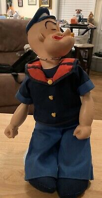 Popeye The Sailor Man Doll Plastic/cloth 1979
