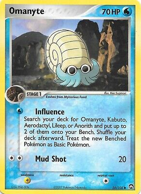 OMANYTE  56/108  EX POWER KEEPERS Pokemon Card  NM