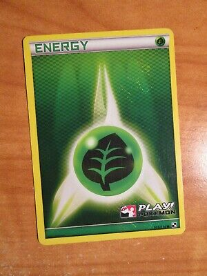 PL 2011 LEAGUE (Black and White) Pokemon GRASS ENERGY 105/114 Card PLAY! Holo