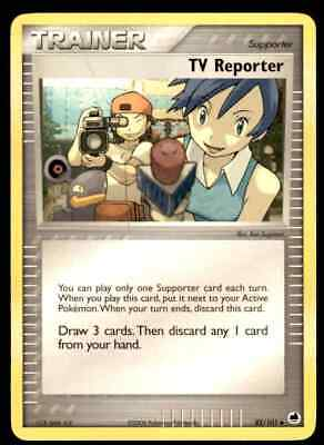 2006 Pokemon EX Dragon Frontiers Tv Reporter #82