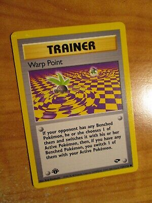 NM (1st edition) Pokemon WARP POINT Card GYM CHALLENGE Set 126/132 First Ed