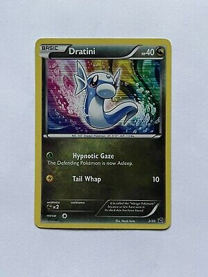 2012 Pokemon Dragon Vault Dratini Holographic Rare Card #02/20 - Lightly Played