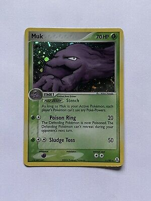 2006 Pokemon EX Legend Maker Muk Holographic Rare Card #11/92 - Lightly Played