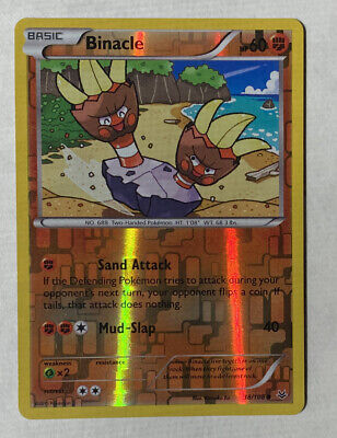 Binacle  38/108   X&Y: Roaring Skies  Reverse Holo   Mint/NM  Pokemon LB