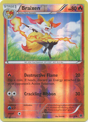 Braixen - 12/124 - Uncommon - Reverse Holo - XY - Fates Collide - LP - Pokemon