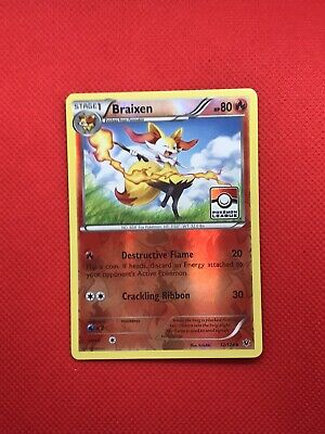 Pokemon League Promo Braixen 12/124 XY Fates Collide Reverse Holo NM/LP TCG