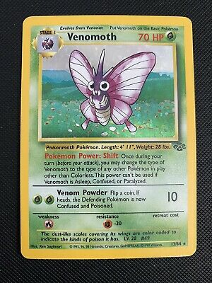 VENOMOTH - Jungle Set - 13/64 - HOLO Rare - Pokemon Card
