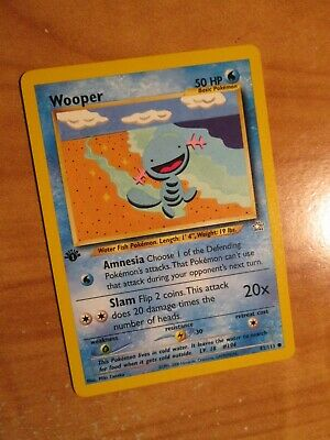 NM (1st edition) Pokemon WOOPER Card NEO GENESIS Set 82/111 First Ed COMMON