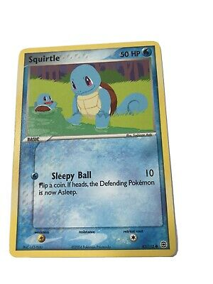 Pokemon TCG - Squirtle 82/112 EX Firered Leafgreen Nonholo Card - NM