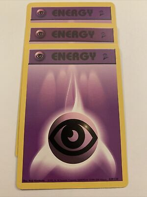 Pokemon TCG Psychic Energy X3, Base Set2 129/130, 2000 Mint/Nearmint