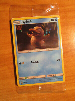 SEALED Pokemon PSYDUCK Card BLACK STAR PROMO Set SM199 Holo Detective Pikachu