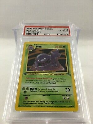 1999 Pokemon Fossil 1st Edition Holo Muk #13 PSA 10 GEM MINT