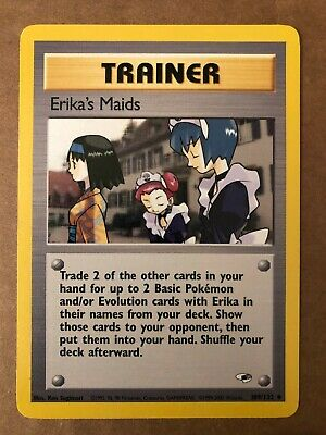 Pokemon Erika's Maids 109/132 Gym Heroes NM See Pictures