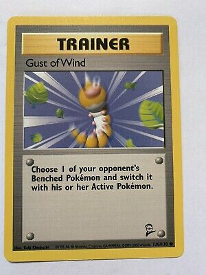 Pokemon Gust of Wind Trainer Card 120/130 Base Set 2 NEVER PLAYED!!!!