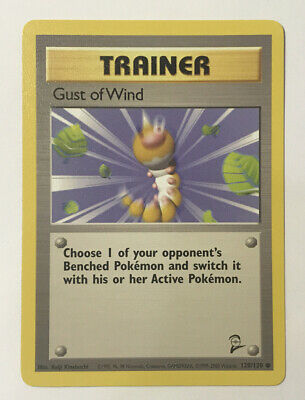 Gust Of Wind Trainer Base Set 2 120/130 Unlimited Common M/NM PSA 9/10? Pokemon