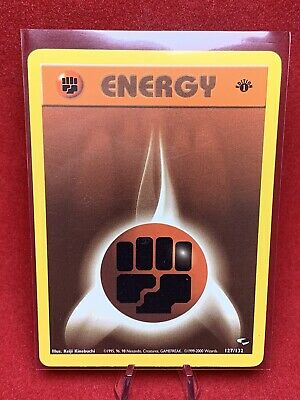 1995 Pokemon Card *Fighting Energy** First Edition - Gym Heroes 127/132 - Common