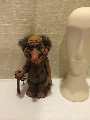Vintage Nyform Norway Troll Grandpa With Walking Stick