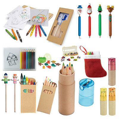 Colouring Pencil Sets 1 - 100 Pack Kids Party Bags Christmas Stocking Filler Uk