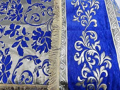 Blue Single Bedspread Sofa Chair Cover Throw Home Decor + 2 Pillow Covers