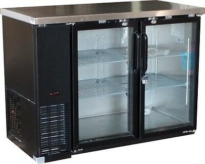 "Omcan Bb-cn-0012-g 49"" 12cf 2-door Back Bar Glass Soda Beer Bottle Cooler Fridge"