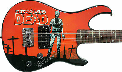 Robert Kirkman Signed Peavey Walking Dead Rick Electric Guitar & Certificate