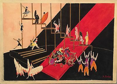A. Exter. Sketch For Stage Decoration. Circa 1925