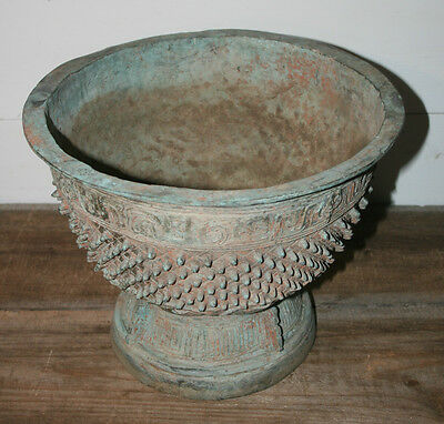 Chinese Bronze Ritual Food Vessel Pot Planter Jardiniere Urn Japanese Rare