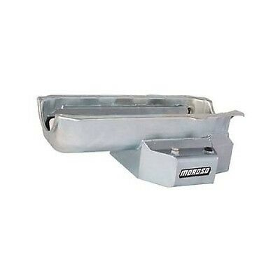 Moroso 21312 Oil Pan Steel Clear Zinc 7 Qt. For Chevy Small Block