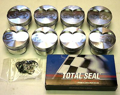 Oldsmobile 350, 68 Over, Gsx Forged Pistons ( 4.125 ) And Ring Set