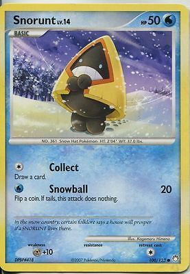 Pokemon Diamond & Pearl Mysterious Treasures Common #100/123. Snorunt