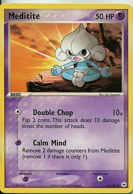 Pokemon Ex Hidden Legends Common #65/101. Meditite