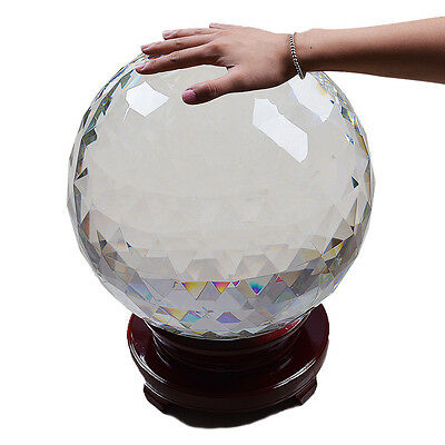 """Longwin Huge 12.6"""" D Clear Faceted Crystal Ball Prims Party Wedding Centerpieces"""
