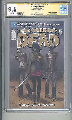 Walking Dead #19 Cgc 9.6 Ss Charlie Adlard Nm/nm+ First Appearance Michonne