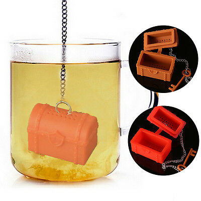 Чай Infusers Silicone Treasure Chest Tea