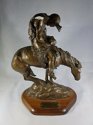 """""""the End Of The Trail"""" Ceramic Horse Figurine Statue Rare Vintage"""