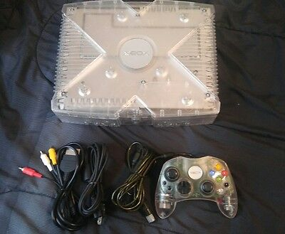 Modded Crystal Original Xbox Console 750gb Hd Coinops 7 Massive 4000+ Games