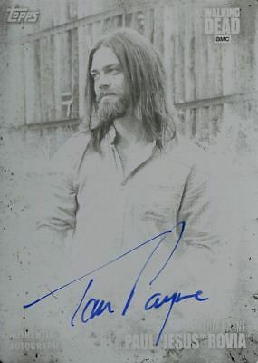 Walking Dead Season 7 Autograph Printing Plate Tom Payne