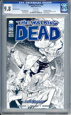 Walking Dead #100 Comixology Ottley Sketch Cgc 9.8 Nm+/m First Lucille And Negan