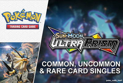 Pokemon Sun & Moon Ultra Prism ALL Common, Uncommon & Rare Cards