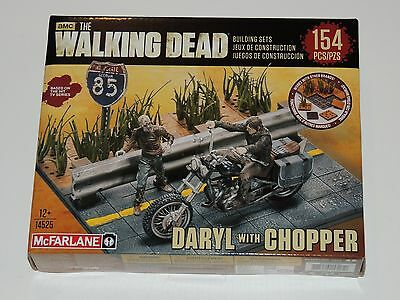 The Walking Dead Daryl With Chopper Building Set *new!* 154 Pcs Mcfarlane Toys