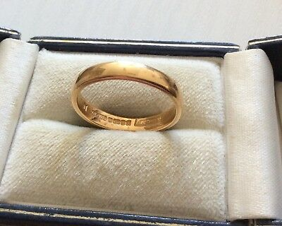 Super Quality Cg & S Vintage Heavy Full Hallmarked 22 Carat Gold Wedding Band