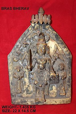 worship holy brass bherav goddess vintage collectible handmade home decor