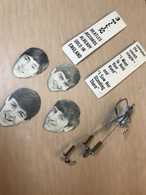 the beatles rare die cut moving record store display heads 1964 meet the beatles