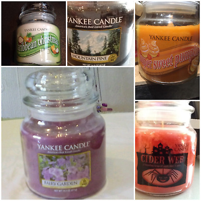 Yankee Candle Usa Medium Jars & Swirl Free Post Rare & Retired