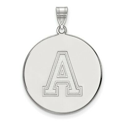 Usma West Point Army Black Knights School Letter Disc Pendant In 14k White Gold