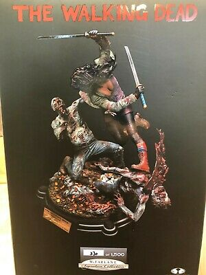 New Mcfarlane The Walking Dead Michonne Resin Statue Signed By Kirkman #370