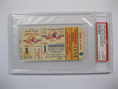 1949 First World Series Under Lights - Game 1 Yankee Stadium Psa Certified Encap