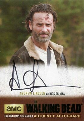 Walking Dead Season 4 Part 2 Gold Parallel Autograph Card Al3 Lincoln As Rick